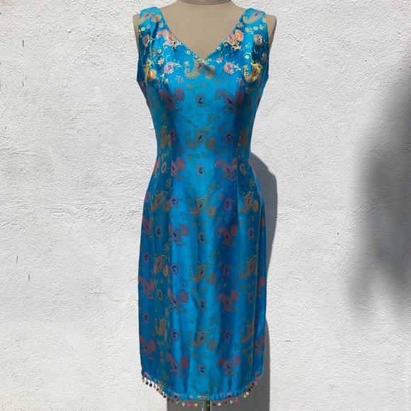 Vintage Dresses & Skirts - Vintage Paisley Dress